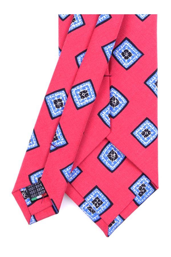 Cravatta 3 Pieghe FUTURA Seta madder - Corallo