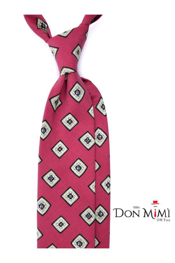 Cravatta 3 Pieghe FUTURA Seta madder - Rosso Scuro
