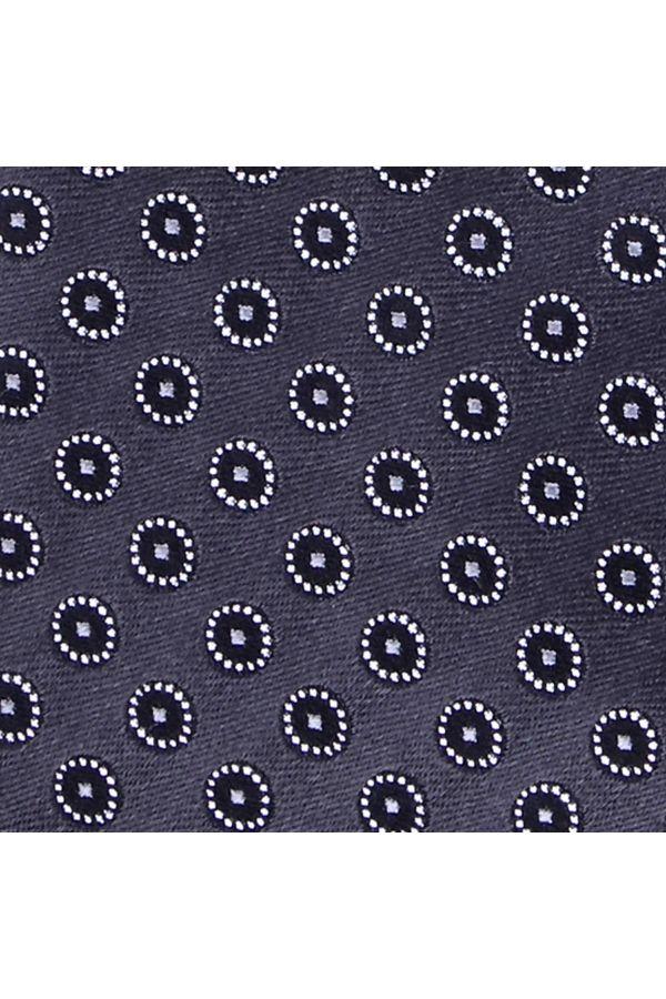 Cravatta 3 Pieghe  CHRISTIAN in seta tessuta - Grigia
