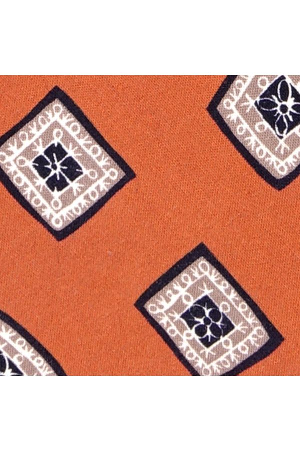 Cravatta 3 Pieghe FUTURA Seta madder - Arancione