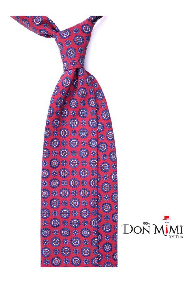 Cravatta 3 Pieghe SULA Seta madder - Rossa