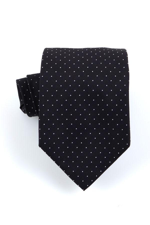 Cravatta 3 pieghe BIRBA in seta-Nera