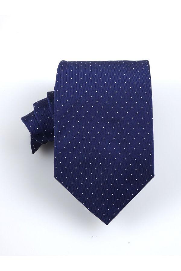 Cravatta 3 pieghe BIRBA in seta-Blu