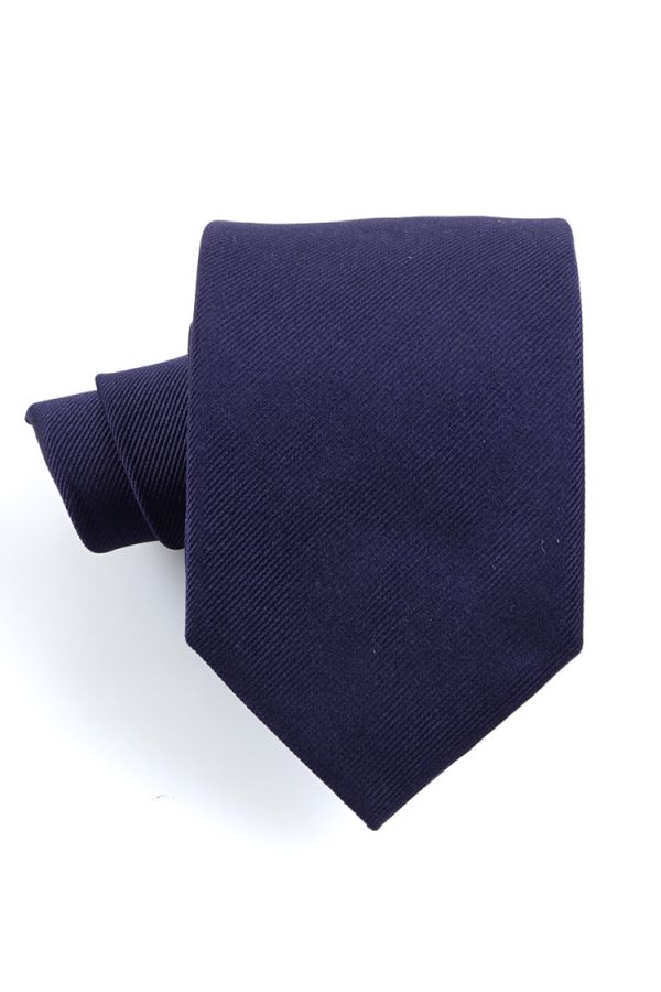 Cravatta 3 pieghe UCRIA in seta-Blu Scuro