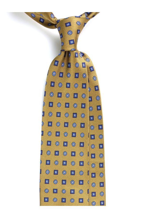 Cravatta 3 Pieghe ELEGANZA in seta lusso - Verde