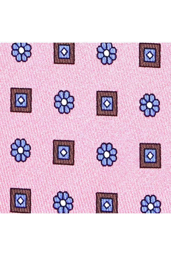 Cravatta 3 Pieghe ELEGANZA in seta lusso - Rosa