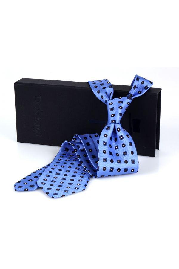 Cravatta 3 Pieghe ELEGANZA in seta lusso - Celeste