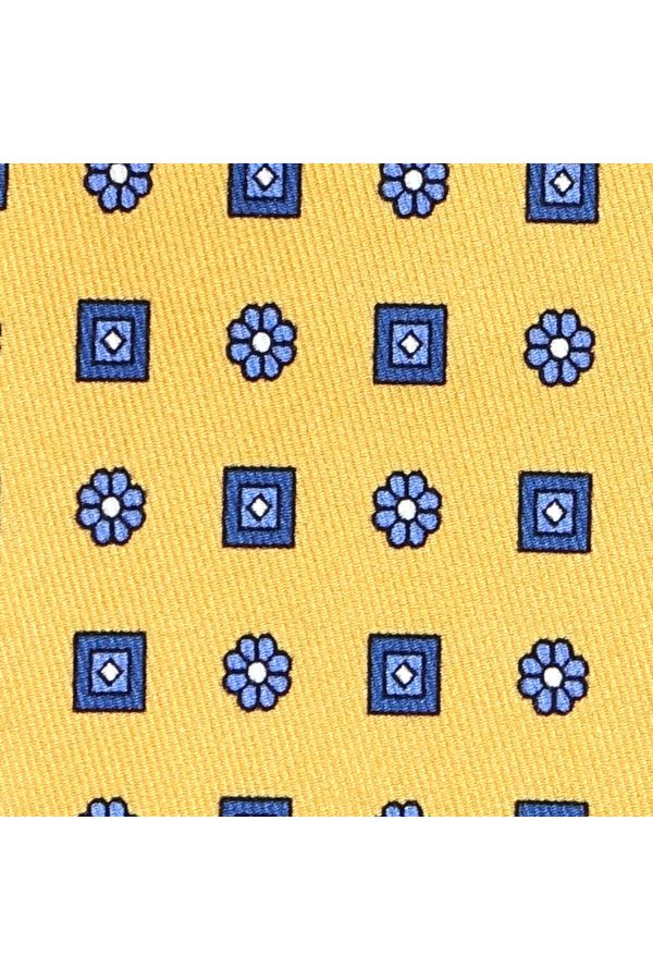Cravatta 3 Pieghe ELEGANZA in seta lusso - Giallo