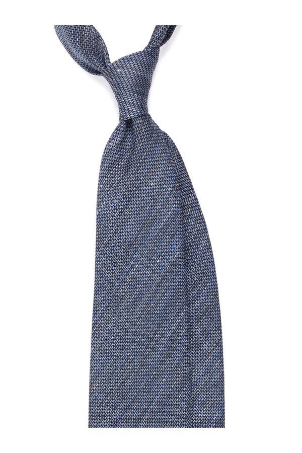 Cravatta 3 Pieghe sfoderata CARPET in seta/cotone - Celeste