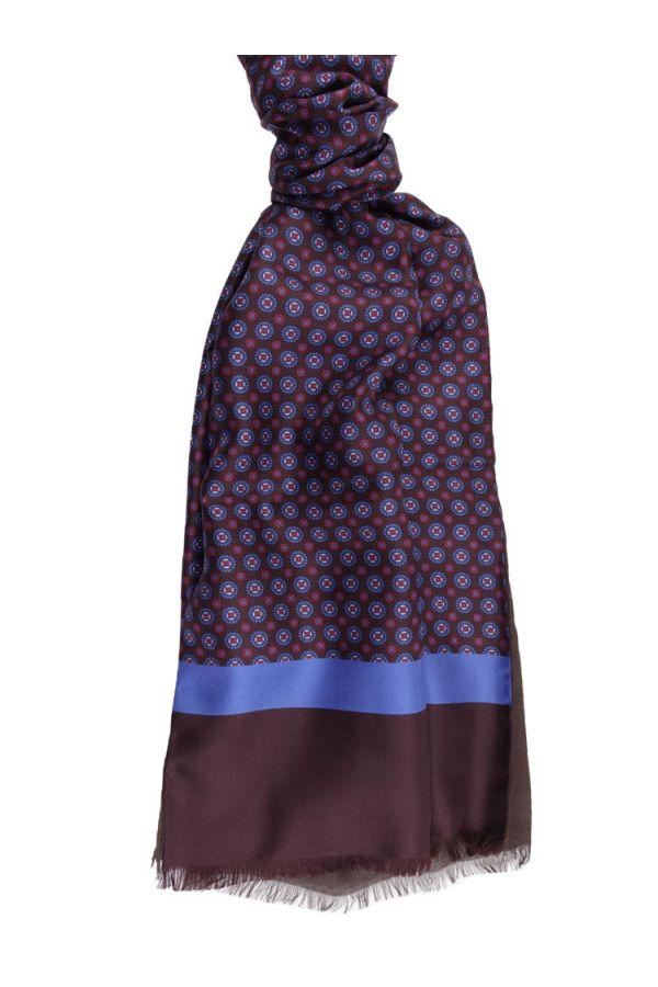 Silk/modal scarf ELLEN - Brown
