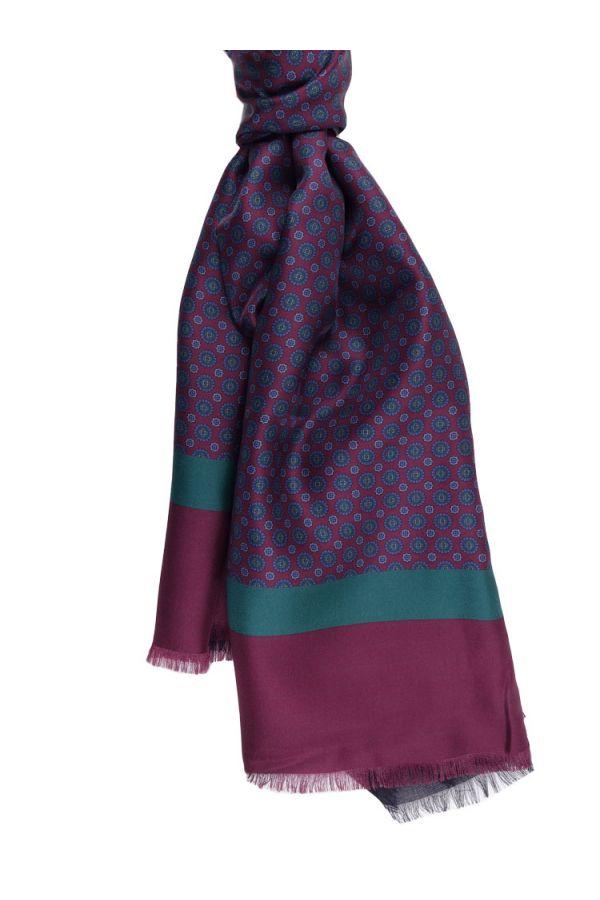 Silk/modal scarf ELLEN - Burgundy