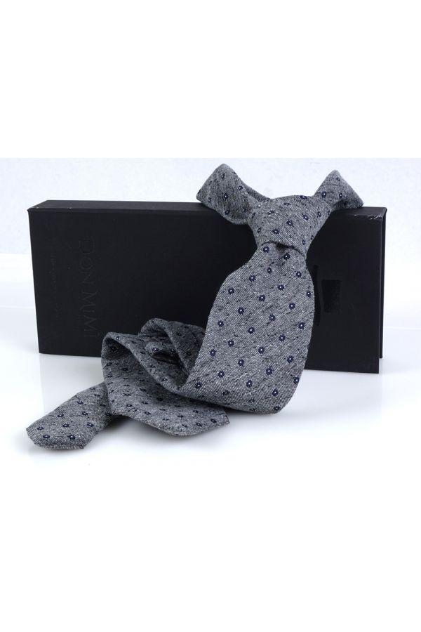 Cravatta 3 pieghe FORLA in seta/lana - Grigia