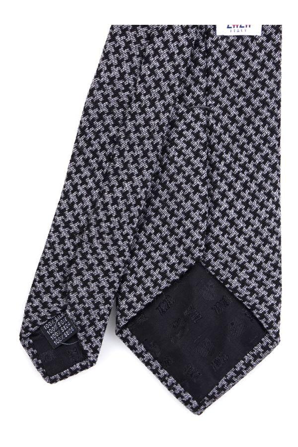 Cravatta 3 pieghe GIADA in lana -Grigio