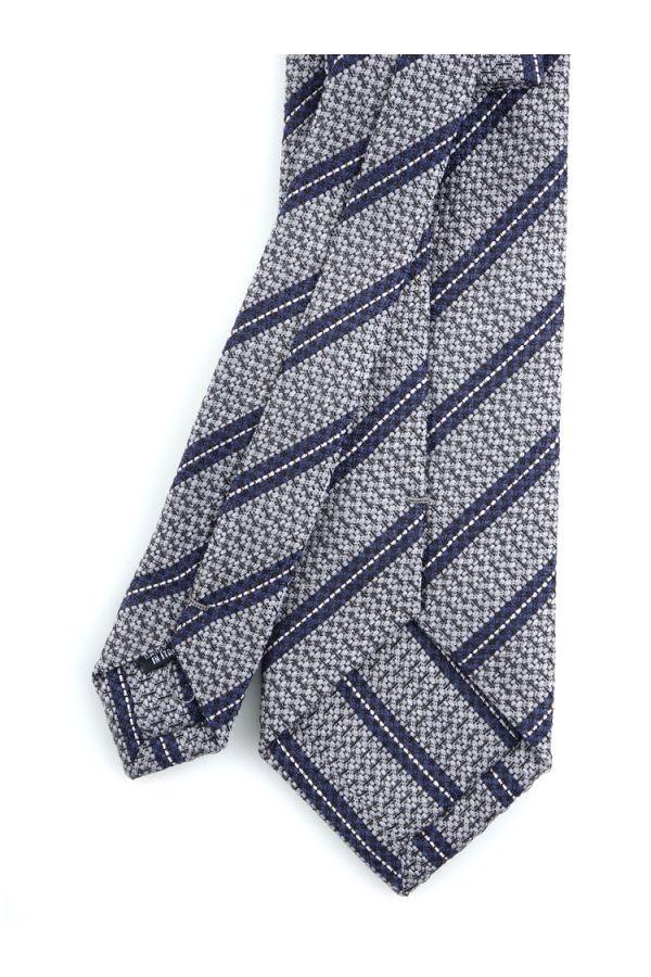 Cravatta 3 pieghe BORA in seta- Grigio