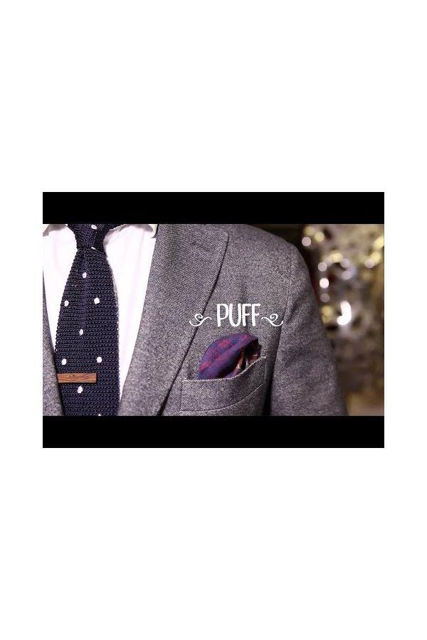 Fazzoletto da taschino RAME in lana Viola