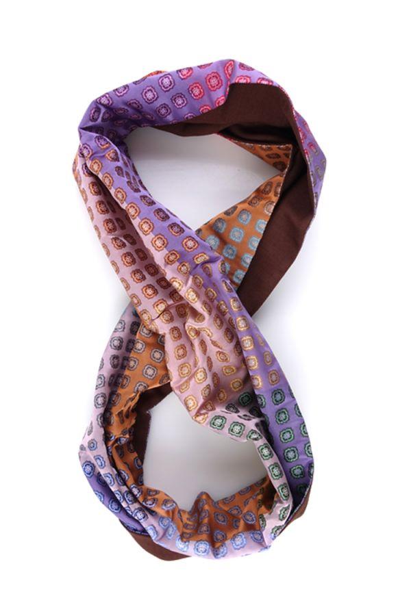 Sciarpa INFINITY LOUREL in seta tessuta e lana modal - Rosa