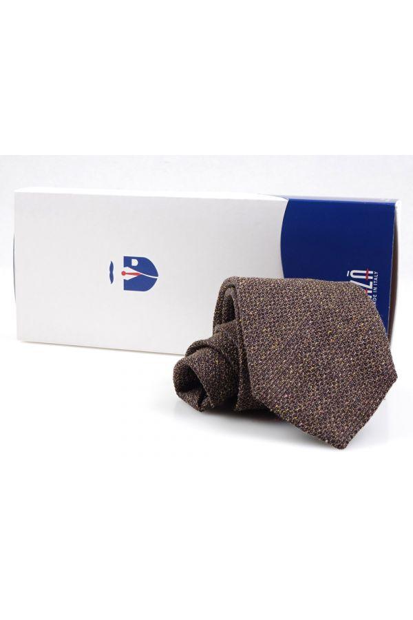 Cravatta 3 Pieghe MACULO lana - Marrone