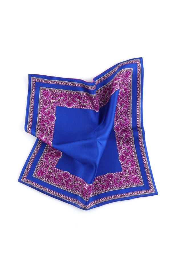 Fazzoletto da taschino doppiato MARBLE - Blu