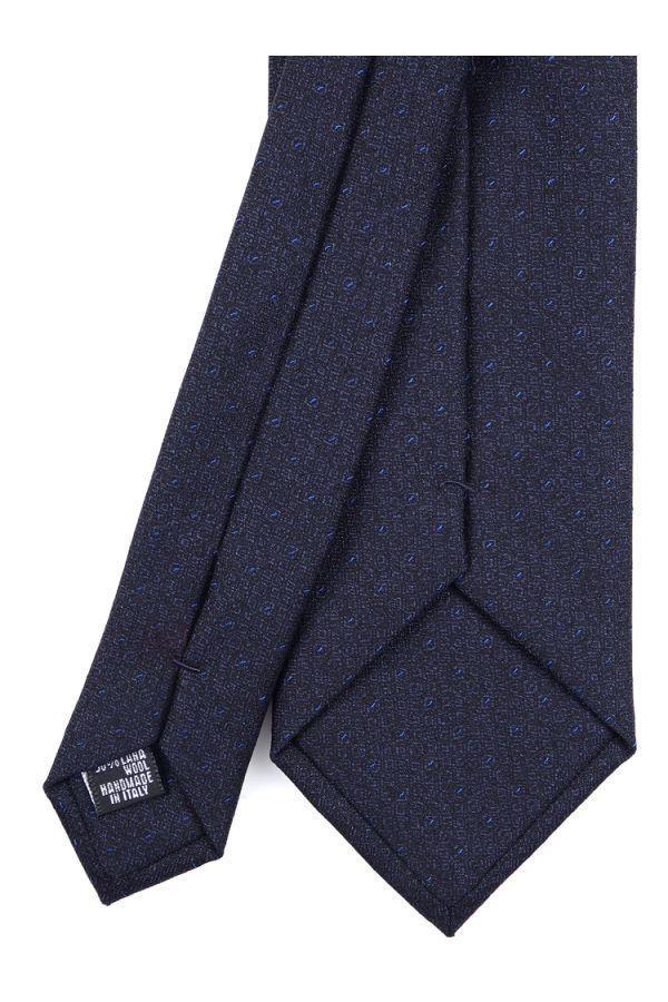 Cravatta 3 Pieghe MARVIS lana - Blu Scuro