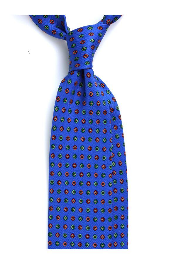 Cravatta 3 Pieghe MEADOW in seta lusso - Blu Elettrico