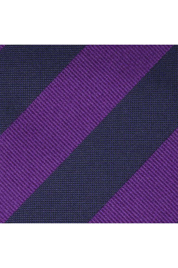 Cravatta 7 Pieghe MIRNIA inseta tessuta-Viola