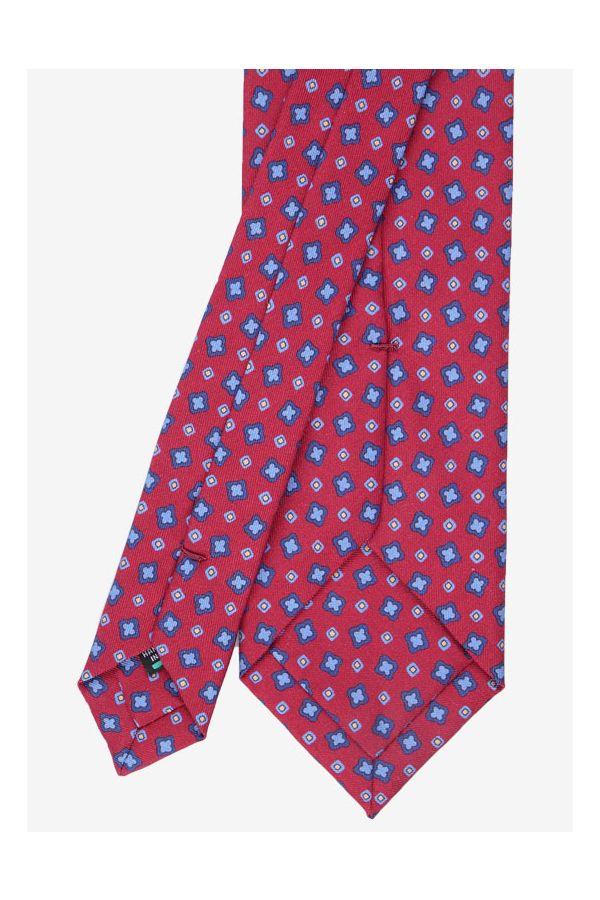 Cravatta 3 pieghe Oman-Rosso