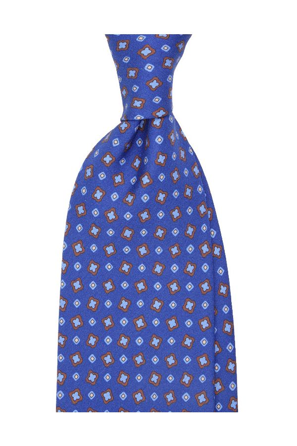 Cravatta 3 pieghe Oman-Blu avion