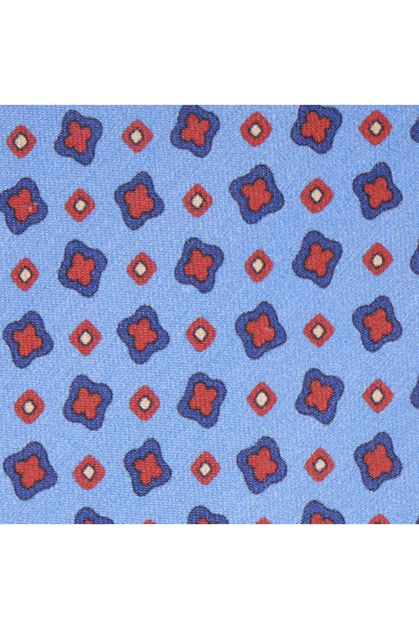 Cravatta 3 pieghe Oman-Celeste