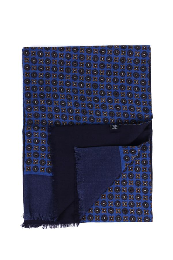 Sciarpa ONDINA in lana YAK - Blu Elettrico