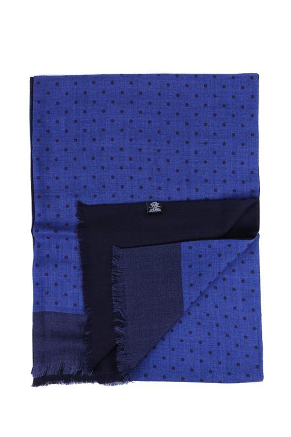 Sciarpa PALLINO in lana YAK - Blu Elettrico