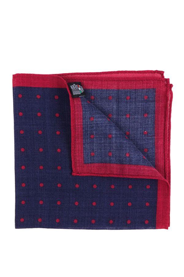 Wool Pocket Square PARDA - Navy blue