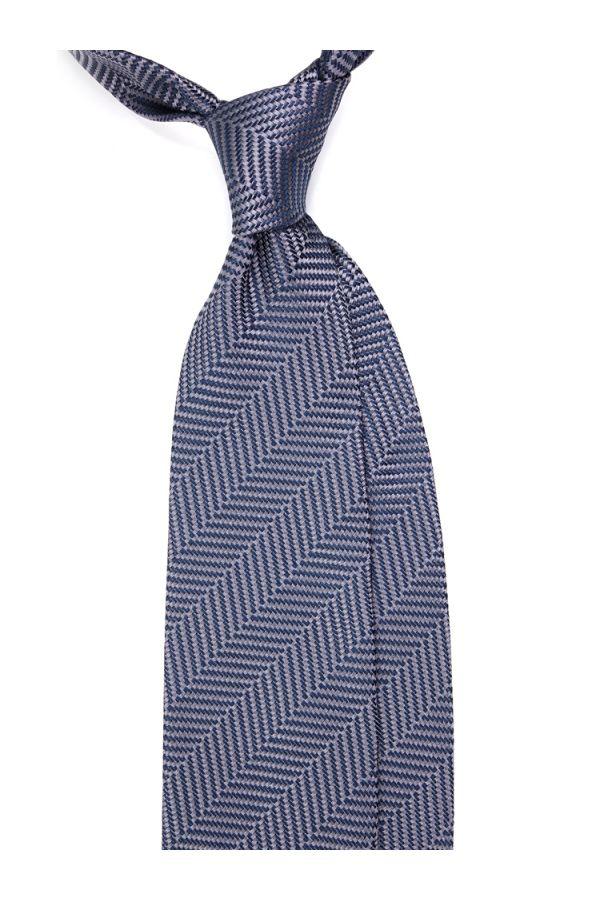 Cravatta 3 pieghe PIGA in seta tessuta - Grigia