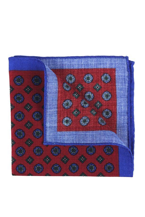 Fazzoletto da taschino PLANO in lana Rosso