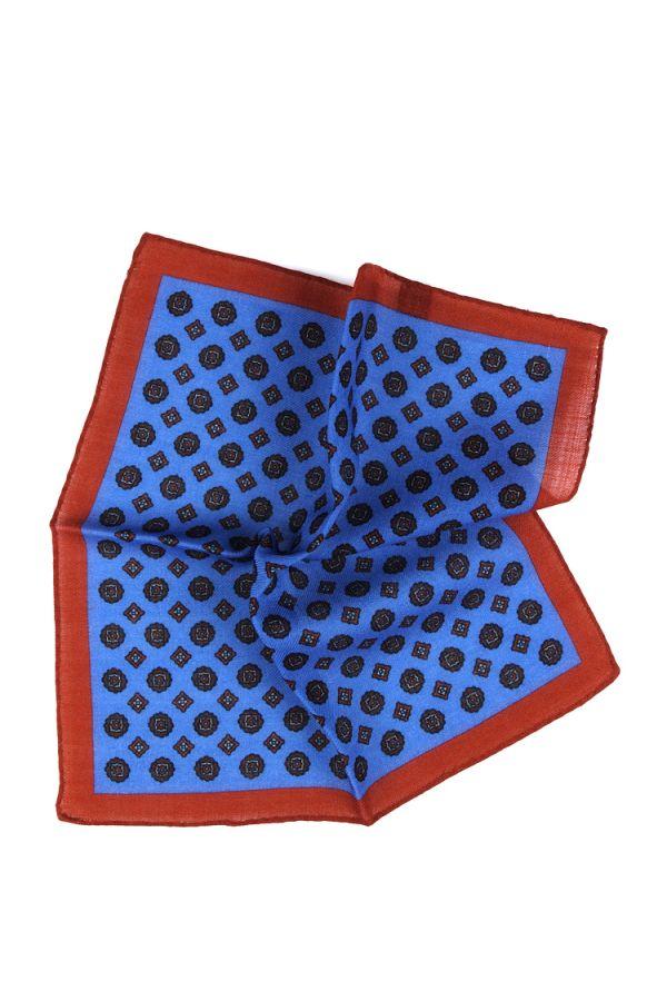 Fazzoletto da taschino PLANO in lana Celeste