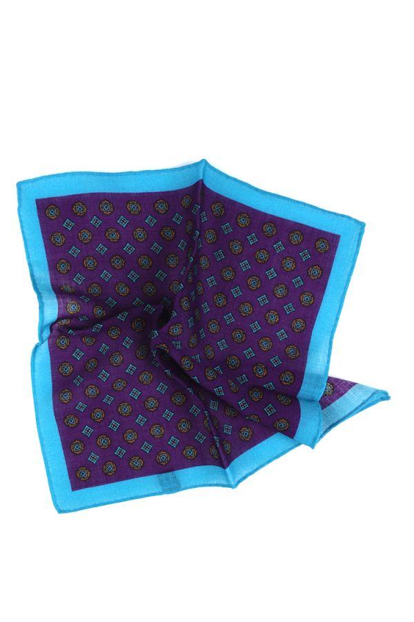 Fazzoletto da taschino PLANO in lana Viola