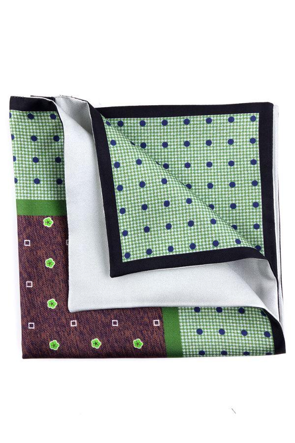 Fazzoletto da taschino doppiato FIELD - Verde