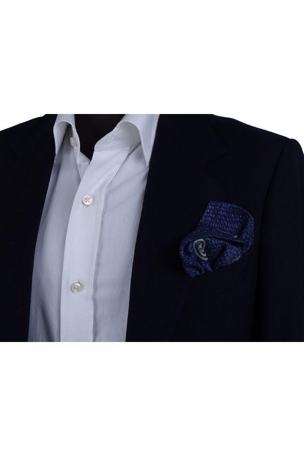 Fazzoletto da taschino in lana BUTTON - Blu