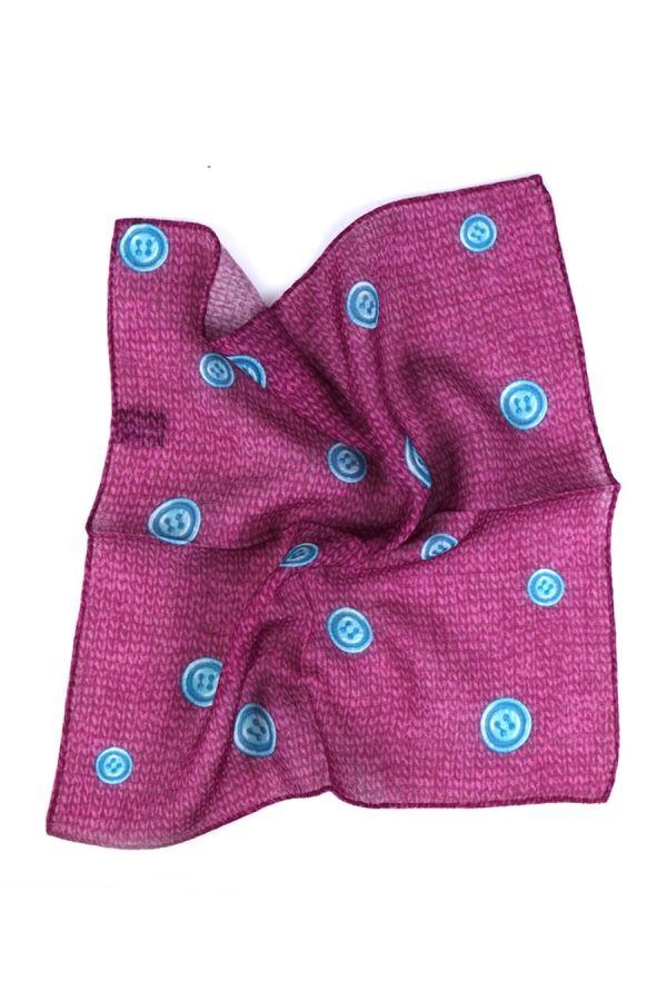 Fazzoletto da taschino in lana BUTTON - Fucsia