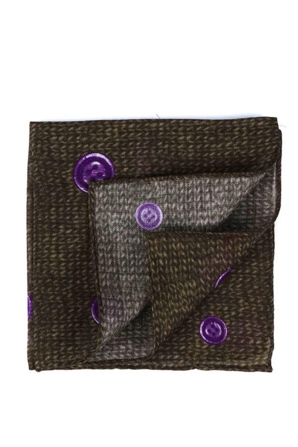 Fazzoletto da taschino in lana BUTTON - Verde