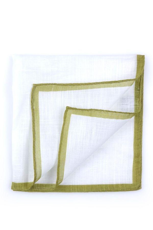 Fazzoletto da taschino 70% cotone 30% lino UNITO - Verde