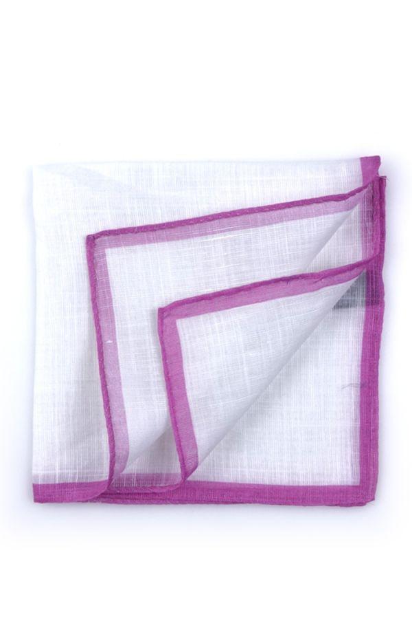 Fazzoletto da taschino 70% cotone 30% lino UNITO - Rosa