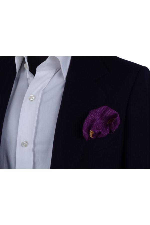 Fazzoletto da taschino in lana BUTTON - Viola