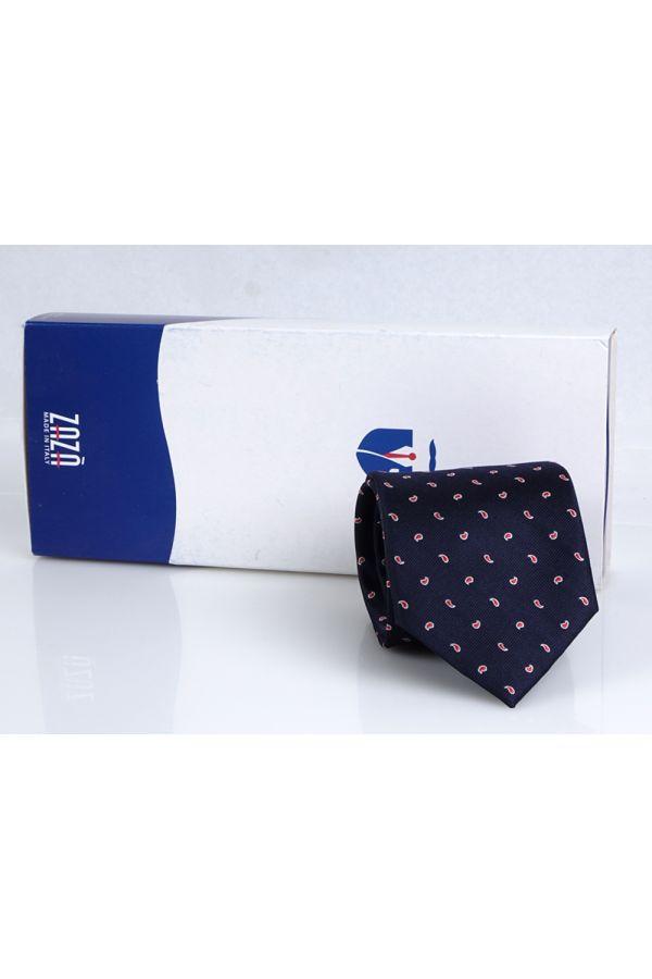 Cravatta 3 pieghe RAIN in seta - Blu Scuro