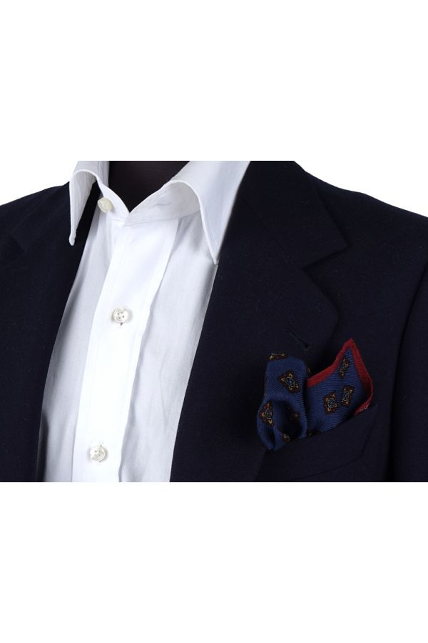 Fazzoletto da taschino RAME in lana Blu