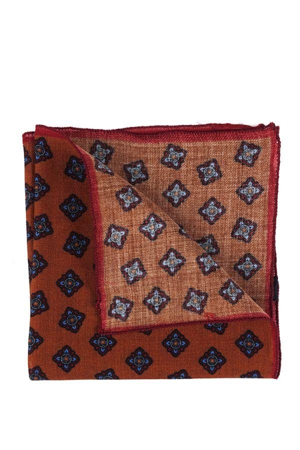 Fazzoletto da taschino RAME in lana Marrone