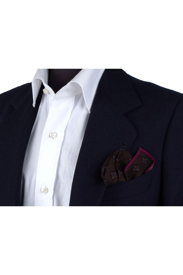 Fazzoletto da taschino RAME in lana Fango