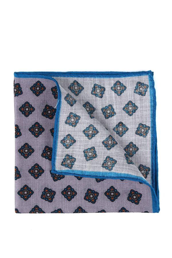 Fazzoletto da taschino RAME in lana Grigio