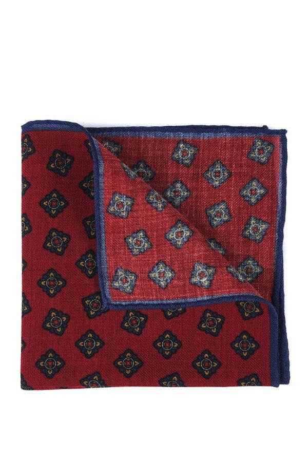 Fazzoletto da taschino RAME in lana Rosso