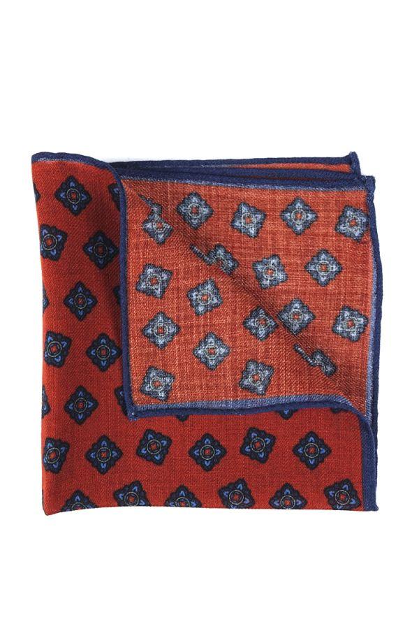 Fazzoletto da taschino RAME in lana Ruggine