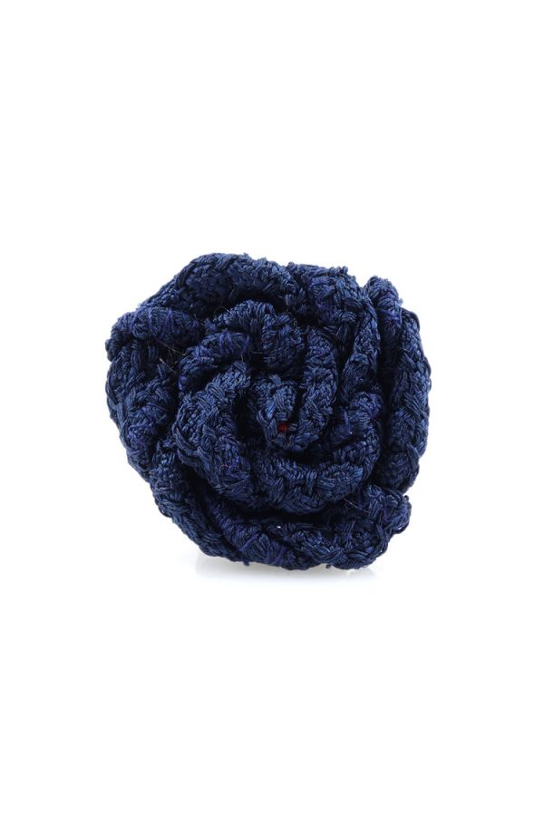 Spilla da giacca RUBINO - Garza di seta-Blu